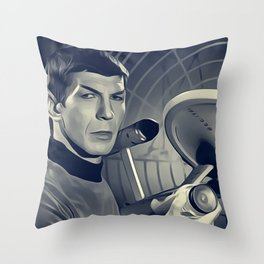 Leonard Nimoy, Actor Throw Pillow