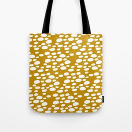 Monstera Leaf Hole Pattern - mustard yellow Tote Bag
