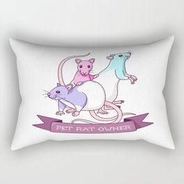 Pet Rat Owner Rectangular Pillow