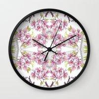 fairy tale Wall Clocks featuring Fairy tale  by GigiMoll