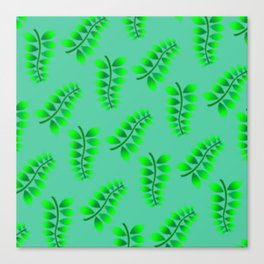Sponged Foliage Pattern. Canvas Print