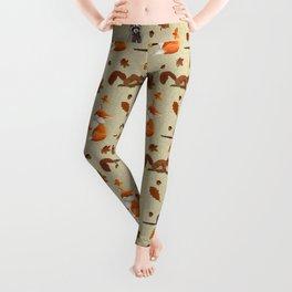 Critters pattern beige Leggings