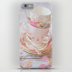 Shabby Chic Vintage Cups in Pink iPhone 6 Plus Slim Case