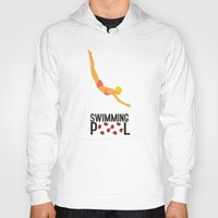 pool Hoodies featuring Swimming Pool by Studio du flamant rose
