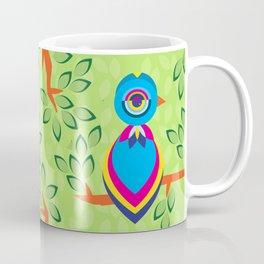 Tropical birds on trees Coffee Mug