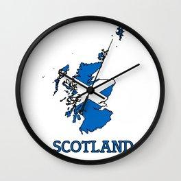 scotland-flag-logo Wall Clock