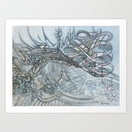 Cloud Refurbisher Art Print