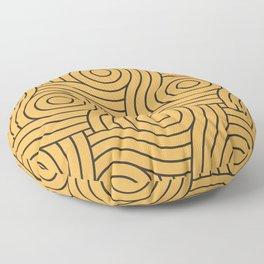 Circle Swirl Pattern VA Bright Marigold - Spring Squash - Pure Joy - Just Ducky Floor Pillow