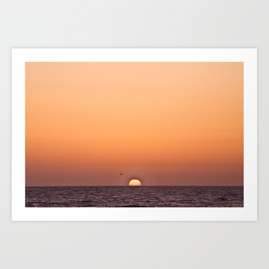 Sun on the Horizon, 2012 Art Print