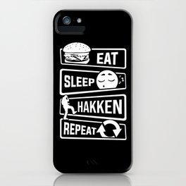Eat Sleep Hakken Repeat - Gabber Hardstyle iPhone Case
