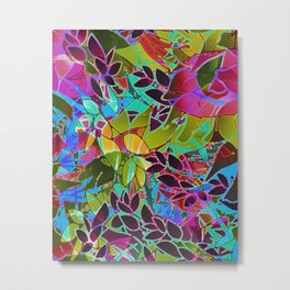Floral Abstract Artwork G544 Metal Print