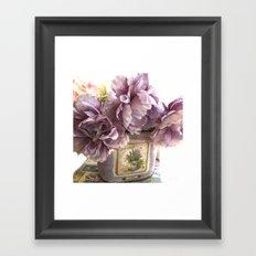 Lavender Roses Impressionistic Romantic Lavender Floral Home Decor Framed Art Print