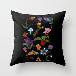 Flora of Hyrule  Throw Pillow