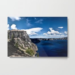 Cliff at Crater Lake - Oregon Metal Print
