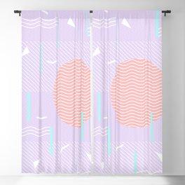 Memphis Summer Lavender Waves Blackout Curtain