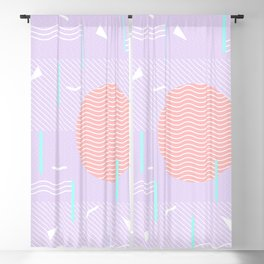Memphis Summer Lavender Waves Blackout Curtain
