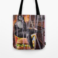 mac Tote Bags featuring Big Mac by Ibbanez