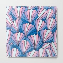 groovy shell pattern Metal Print