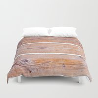 wooden Duvet Covers featuring Wooden Boards by Patterns and Textures