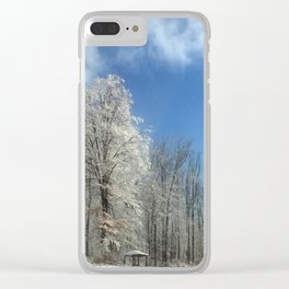 Frosty Winter Morning Clear iPhone Case