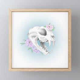 Cat Skull Framed Mini Art Print