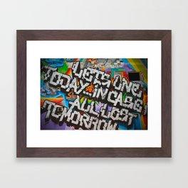 Grafitti Framed Art Print