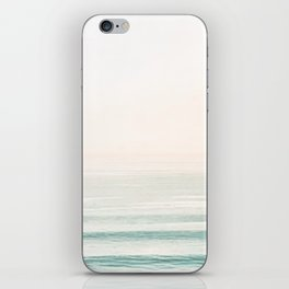 Washed Out Ocean Waves // California Beach Surf Horizon Summer Sunrise Abstract Photograph Vibes iPhone Skin