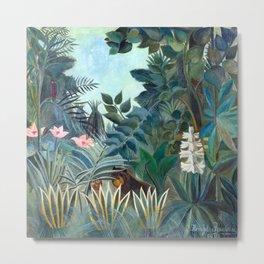 Henri Rousseau Equatorial Jungle Metal Print