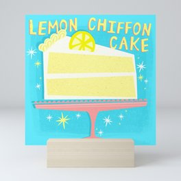 All American Classic Lemon Chiffon Cake Mini Art Print