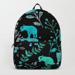 Watercolor Flowers & Elephants IV Backpack