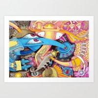 ice cream Art Prints featuring Ice Cream by Yuliya