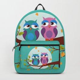 Sleepy owls in love Backpack
