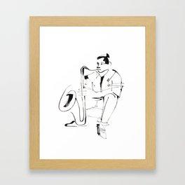 Saxophone Player Musician Framed Art Print