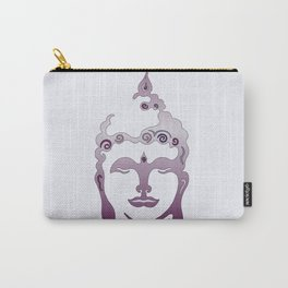 Buddha Head violet - grey Carry-All Pouch