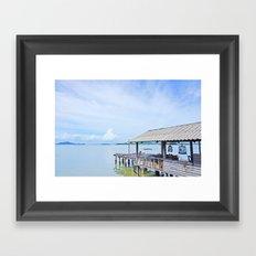 The docks of Koh Lanta Framed Art Print