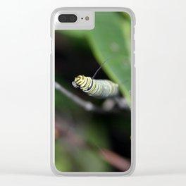Monarch Caterpillar Clear iPhone Case