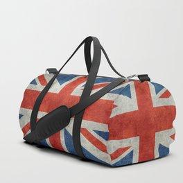 UK flag - High Quality Bright retro 1:2 Scale Duffle Bag