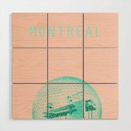Montreal Biosphere Pastel Wood Wall Art