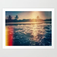 cotton's sunset Art Print