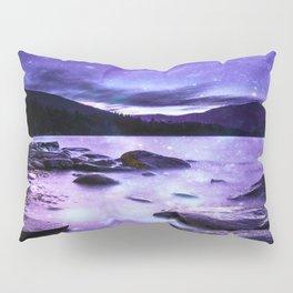 Magical Mountain Lake Purple Pillow Sham