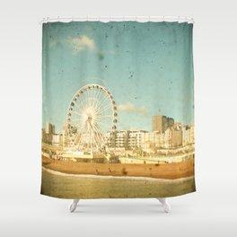 Brighton Wheel Shower Curtain
