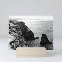 Seascape with monolith Mini Art Print