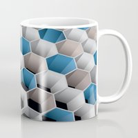 honeycomb Mugs featuring Honeycomb by amanvel