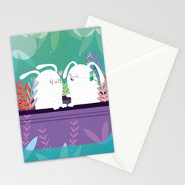 Bunnies in love Stationery Cards