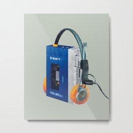 Sony Walkman TPS-L2 with MDR-5A Headphone Polygon Art Metal Print
