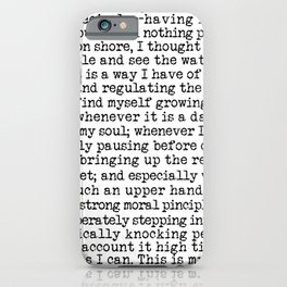 Call Me Ishmael. Moby Dick Opening Literary Typography in Black and White iPhone Case