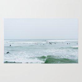 Tiny Surfers Lima, Peru 3 Rug