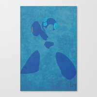 megaman Canvas Prints featuring Megaman by JHTY