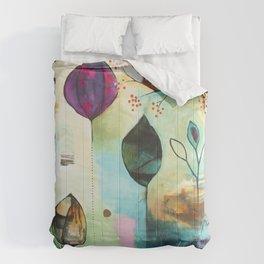 """Abundance"" Original Painting by Flora Bowley  Comforters"
