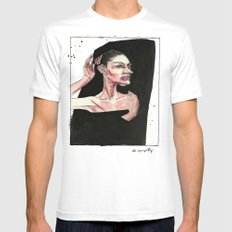 Do I Have To Stay Still? MEDIUM White Mens Fitted Tee